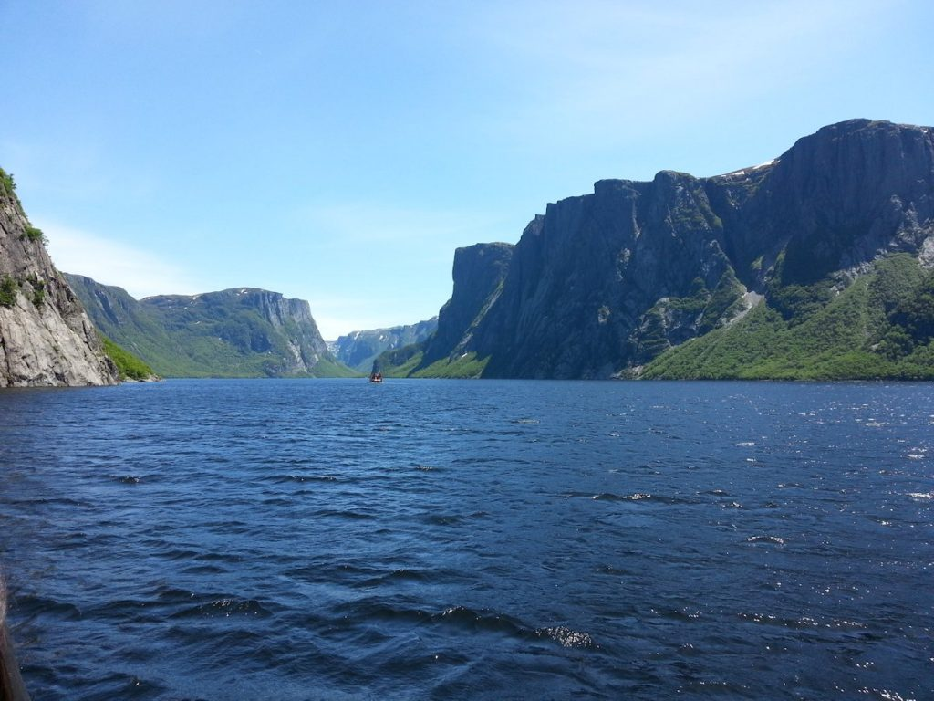 Western Brook Pond is very close to the SEa Breeze B&B